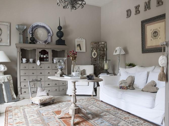 Deco salon taupe gris blanc - Photo decoration salon ...