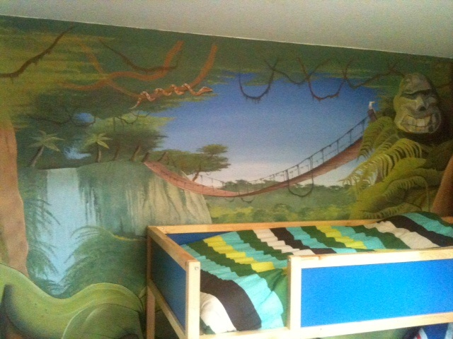 Decoration chambre bebe animaux jungle - Deco chambre bebe jungle ...