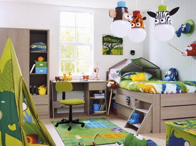 photo decoration decoration chambre bebe animaux jungle 5 - Photo Déco