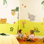 decoration chambre bebe animaux jungle