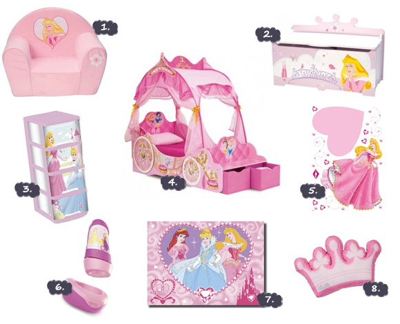 Decoration chambre fille princesse disney for Chambre princesse