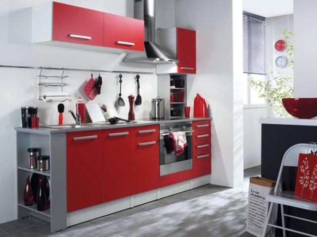 decoration cuisine rouge et noir. Black Bedroom Furniture Sets. Home Design Ideas