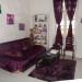 decoration de salon gris et violet
