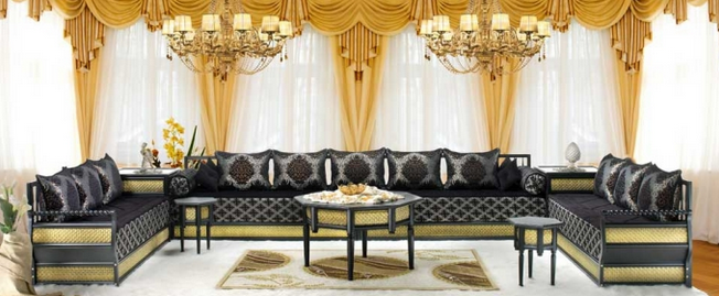decoration de salon marocain 2014. Black Bedroom Furniture Sets. Home Design Ideas