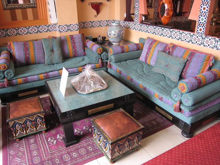 Photo decoration de salon marocain moderne