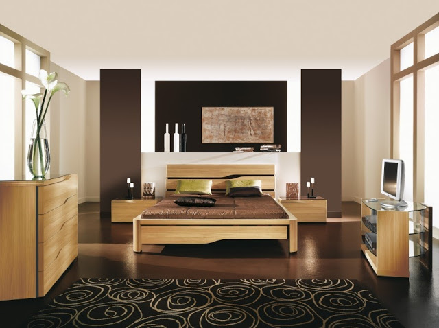 Decoration Chambre Adulte Marron Contemporaine : Decoration interieur chambre adulte moderne