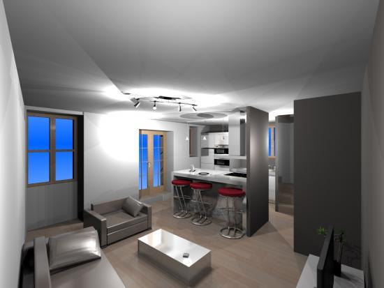 Decoration interieur salon cuisine Belle deco interieur