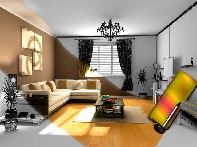 Decoration interieur salon peinture for Photo decoration interieur