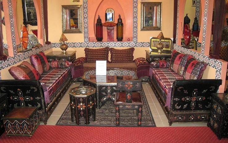 decoration salon marocain beldi