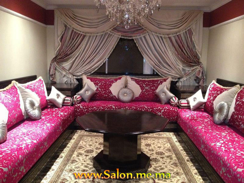decoration salon marocain moderne 2013. Black Bedroom Furniture Sets. Home Design Ideas