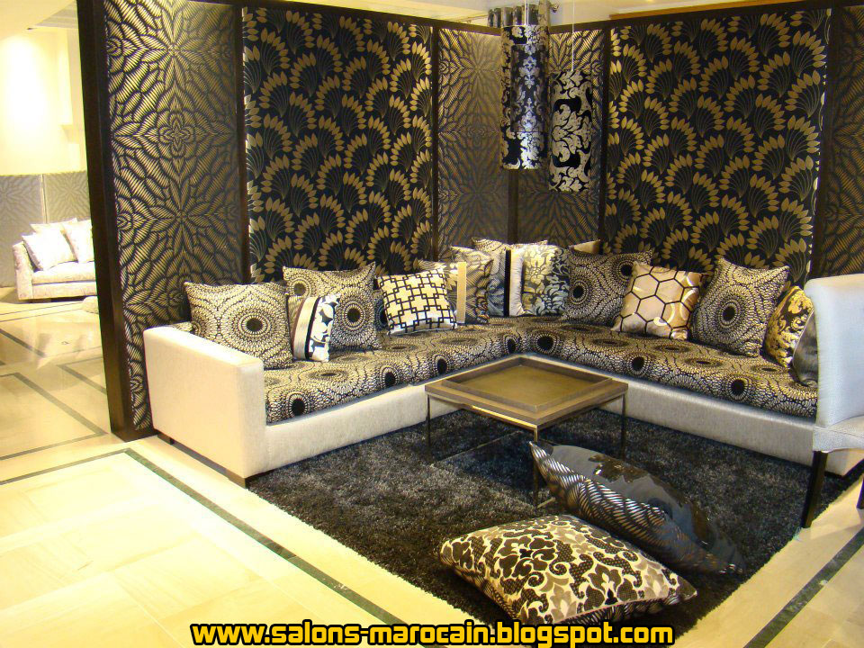Awesome Deco Salon Luxueux Et Moderne Marron Et Noir Pictures ...