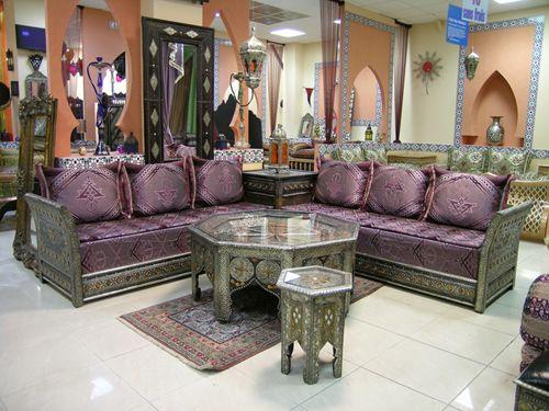 idée decoration salon marocain traditionnel