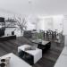 decoration salon noir et blanc