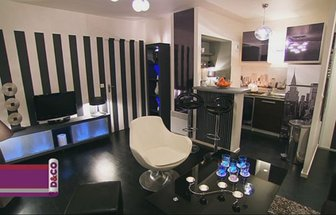 decoration salon noir et blanc design. Black Bedroom Furniture Sets. Home Design Ideas