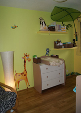 id e d co chambre b b jungle. Black Bedroom Furniture Sets. Home Design Ideas