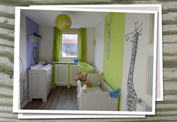Table Salon Bois Et Gris : modèle idée déco chambre bébé jungle