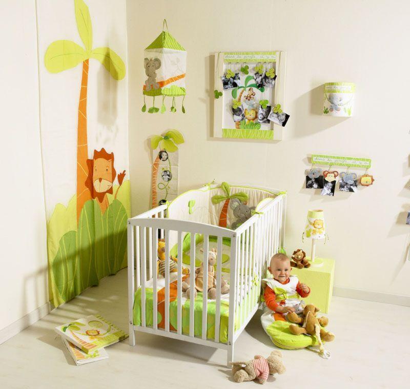 Table Salon Bois Et Gris :  déco chambre bébé jungle source de la photo http chambre bebe com