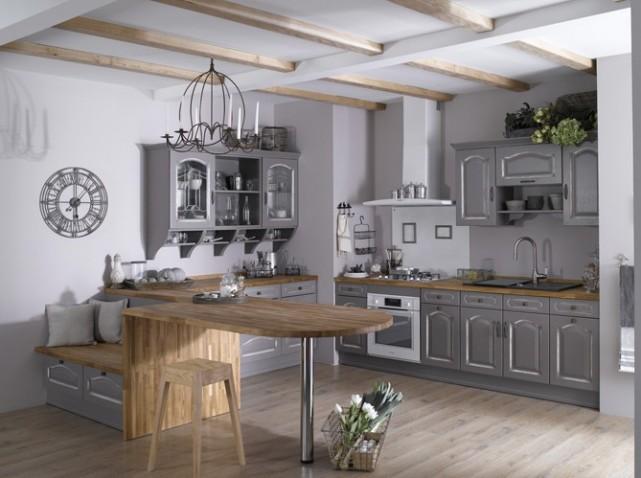Aménagement Idée Déco Pour Cuisine Blanche Et Grise - Idee deco cuisine grise pour idees de deco de cuisine