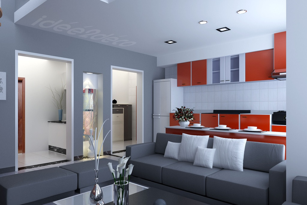 Decoration Salon Avec Parquet Gris