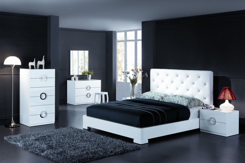 idee deco chambre adulte blanche. Black Bedroom Furniture Sets. Home Design Ideas