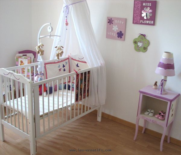 Photo idee deco chambre bebe fille a faire soi meme