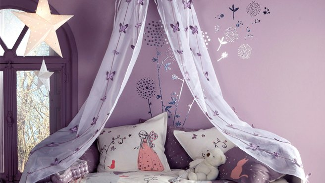 belle idee deco chambre fille princesse - Photo Déco