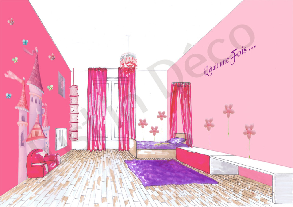 Chambre fille princesse deco id es de d coration et de for Idee decoration chambre