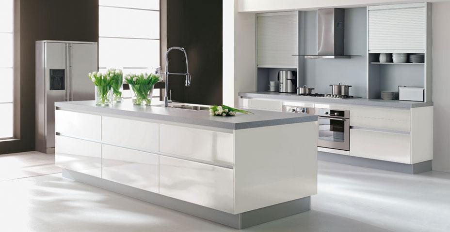 idee deco cuisine blanc et grise. Black Bedroom Furniture Sets. Home Design Ideas