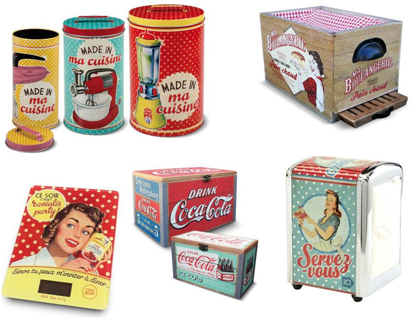 Objet deco cuisine retro for Photo cuisine retro