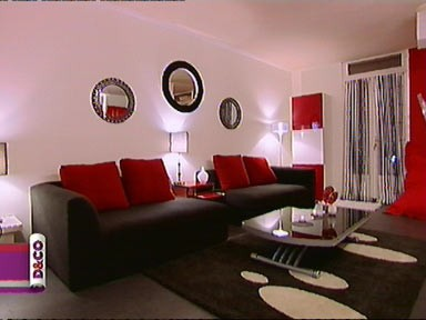 best salon blanc gris rouge noir ideas amazing house design - Decoration Salon Rouge Noir Blanc