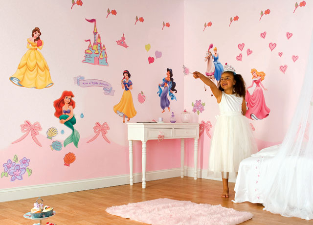 Stickers deco chambre fille princesse for Stickers chambre petite fille