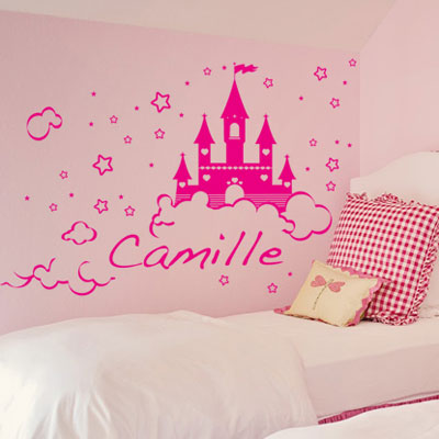 Stickers deco chambre fille princesse for Sticker mural chambre fille