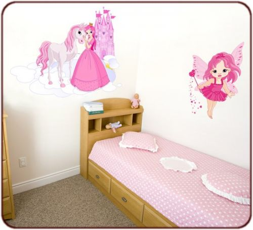 Stickers deco chambre fille princesse - Stickers geant chambre fille ...