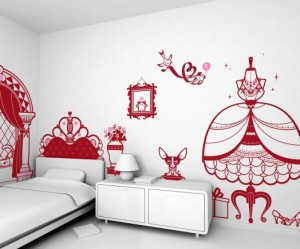 stickers deco chambre fille princesse