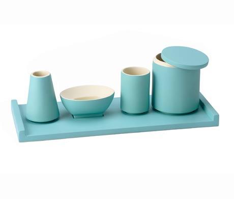 Accessoires salle de bain bleu turquoise for Accessoires de salle de bain zodio