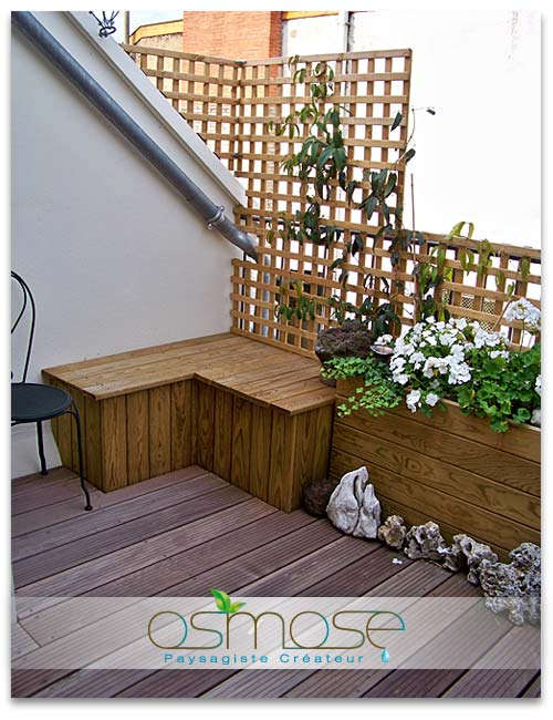 Am nagement balcon terrasse appartement for Photo decoration
