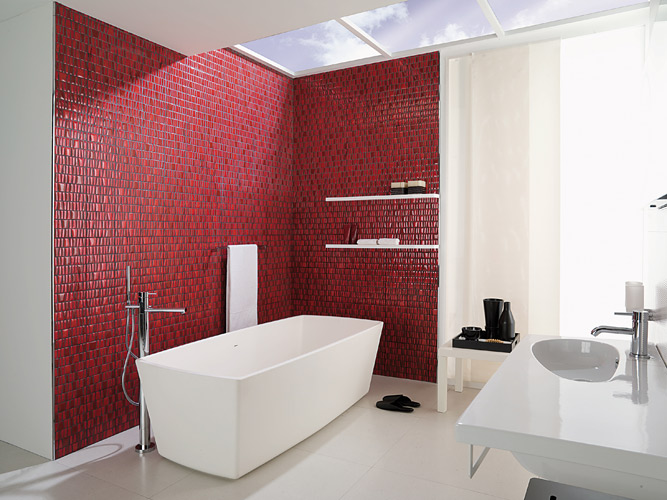 Emejing Salle De Bain Rouge Et Blanc Ideas - Awesome Interior Home ...