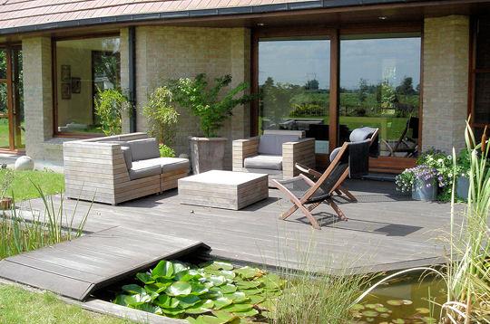 D co jardin terrasse bois for Decoration terrasse de jardin