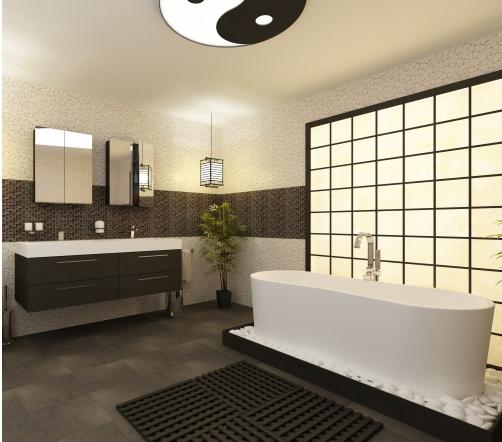Jolie déco salle de bain zen - Photo Déco