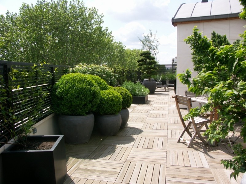 D co design pour terrasse for Idee deco pas cher appartement