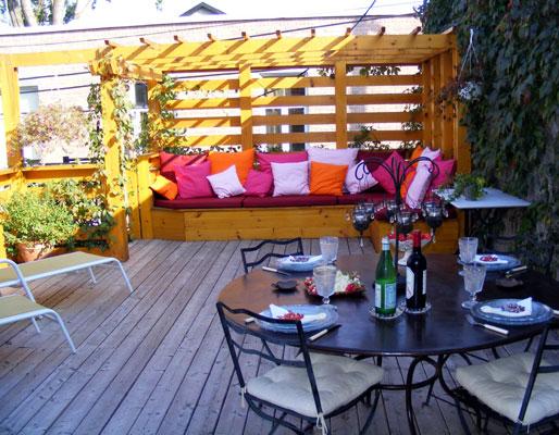 D co terrasse exterieure - Couleur de teinture pour patio ...