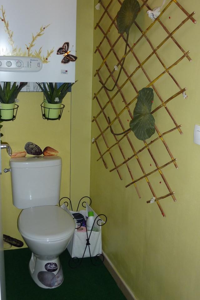 aménagement déco toilettes nature