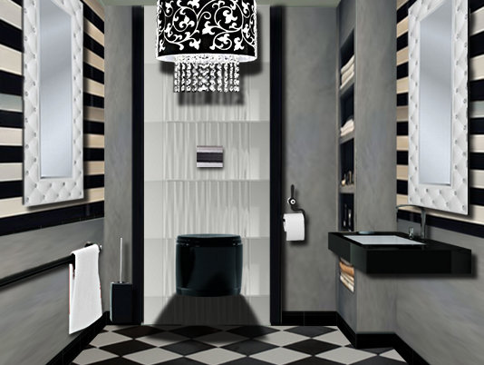 d coration wc chic. Black Bedroom Furniture Sets. Home Design Ideas