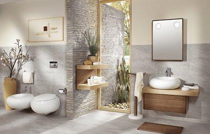 belle deco petite salle de bain zen - Photo Déco