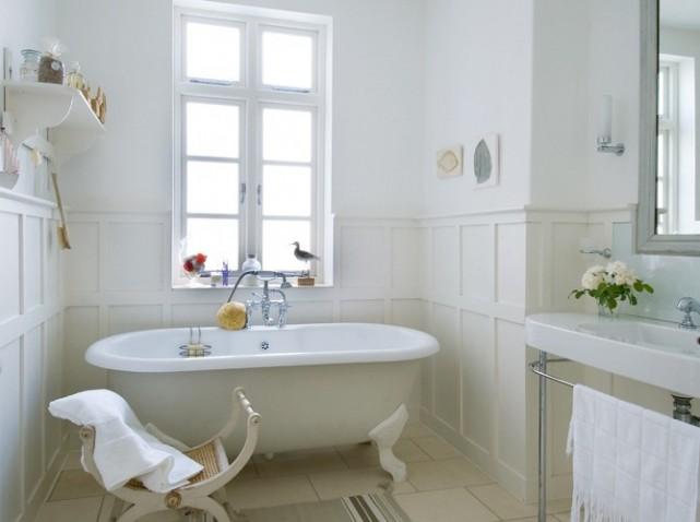 idée deco salle de bain à l\'ancienne