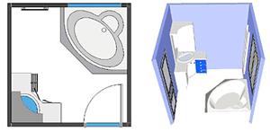 Deco salle de bain 5m2 - Idee salle de bain 5m2 ...