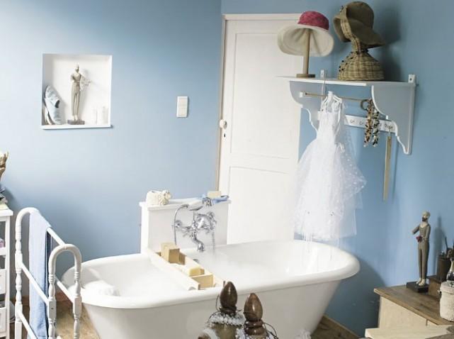 deco salle de bain bleu et vert - Decoration Salle De Bain Bleu