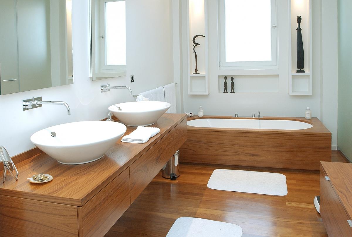 Photo deco salle de bain bois