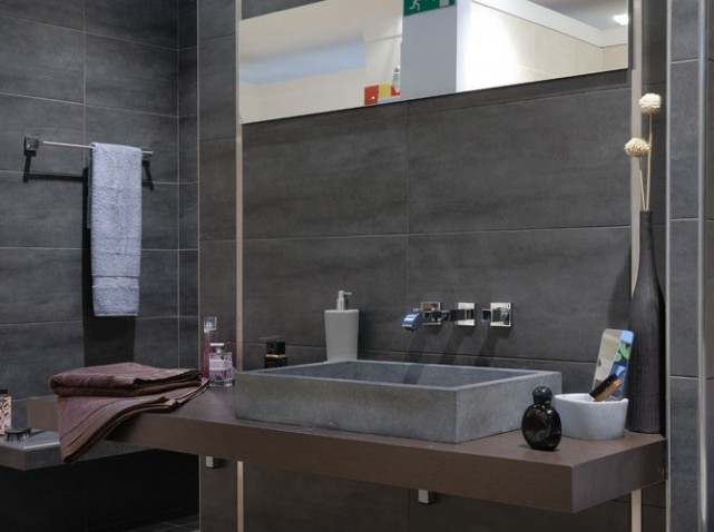 Emejing Salle De Bain Noir Et Taupe Photos - Home Decorating Ideas ...