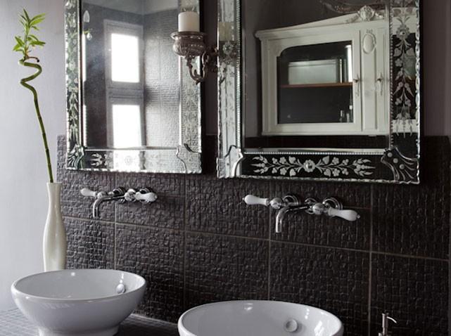 Deco salle de bain carrelage gris for Carrelage salle de bain noir et gris